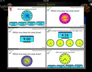 math app score board